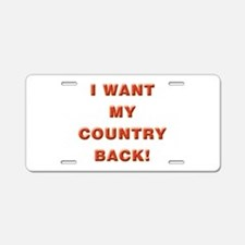 My Country Aluminum License Plate