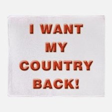 My Country Throw Blanket
