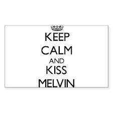 Keep Calm and Kiss Melvin Decal