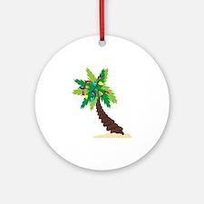 Christmas Palm Tree Ornament (Round)