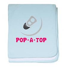Pop- A - Top baby blanket