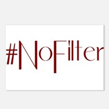 #NoFilter - crimson Postcards (Package of 8)