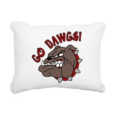 GO DAWGS! Rectangular Canvas Pillow
