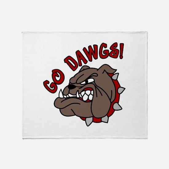 GO DAWGS! Throw Blanket