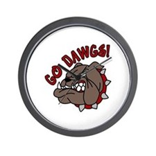 GO DAWGS! Wall Clock