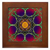 Dream catcher mandala Framed Tiles