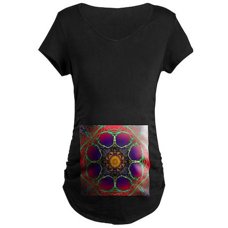 Mandala Maternity Dark T-Shirt