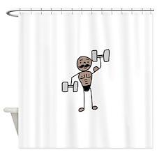 Weightlifter Shower Curtain