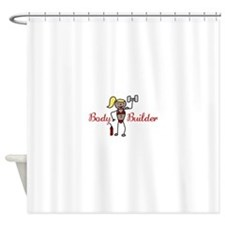 Body Builder Shower Curtain