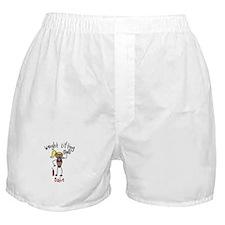 Weight Lifting Babe Boxer Shorts