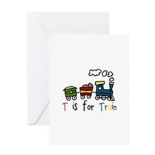 T Is For Train Greeting Cards
