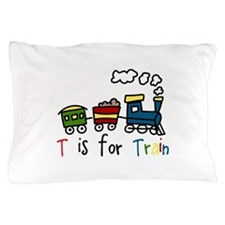T Is For Train Pillow Case