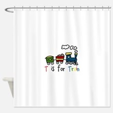 T Is For Train Shower Curtain