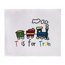 T Is For Train Throw Blanket