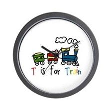 T Is For Train Wall Clock