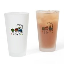 T Is For Train Drinking Glass
