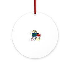 I Dump Ornament (Round)