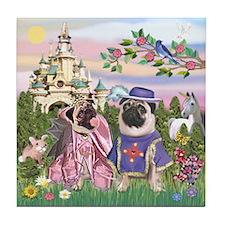 Sir Pug and His Princess Tile Coaster