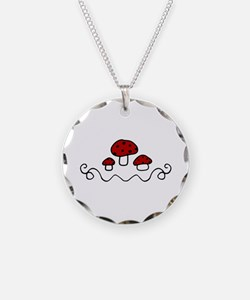 Red Mushrooms Necklace