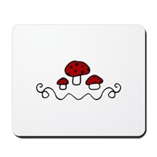 Red Mushrooms Mousepad