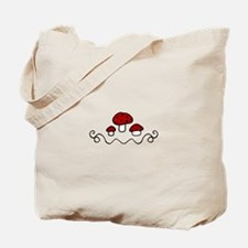 Red Mushrooms Tote Bag