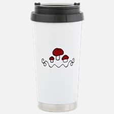 Red Mushrooms Travel Mug