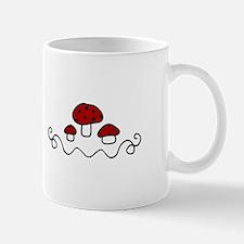 Red Mushrooms Mugs