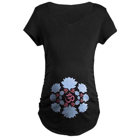 om lotus Maternity Dark T-Shirt