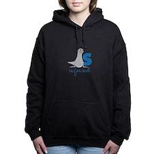 S Is For Seal Women's Hooded Sweatshirt