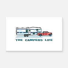 Unique Camping Rectangle Car Magnet