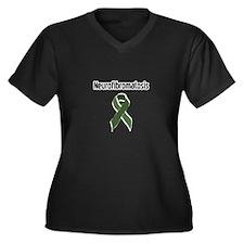 Neurofibromatosis Women's Plus Size V-Neck Dark T-