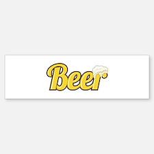 Beer Bumper Bumper Bumper Sticker
