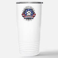 USA Soccer Stainless Steel Travel Mug
