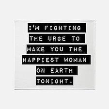 Im Fighting The Urge Throw Blanket