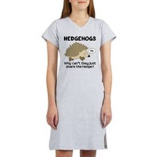 Hedgehog Pun Women's Nightshirt