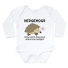 Hedgehog Pun Long Sleeve Infant Bodysuit
