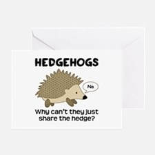 Hedgehog Pun Greeting Card