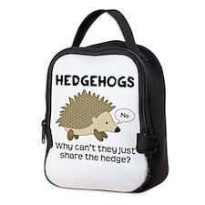 Hedgehog Pun Neoprene Lunch Bag