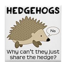Hedgehog Pun Tile Coaster