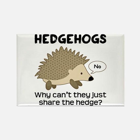 Hedgehog Pun Rectangle Magnet