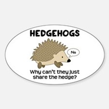 Hedgehog Pun Decal