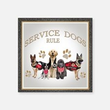 Service Dogs Rule Gifts And Apparel Sticker