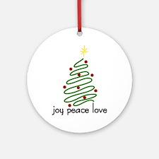 Joy Peace Love Ornament (Round)