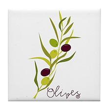 Olives Tile Coaster