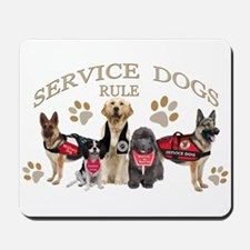 Service Dogs Rule Gifts and Apparel Mousepad