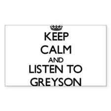Keep Calm and Listen to Greyson Decal