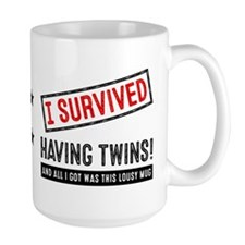 I Survived Having Twins! Large Mugs