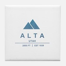 Alta Ski Resort Utah Tile Coaster