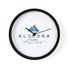 Alyeska Ski Resort Alaska Wall Clock