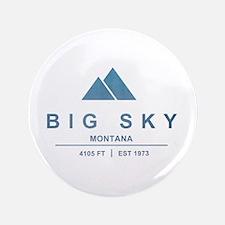 "Big Sky Ski Resort Montana 3.5"" Button"